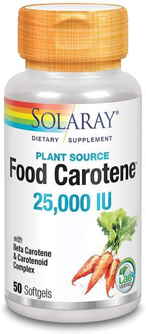 Solaray Food Carotene 25,000 IU  50 softgels