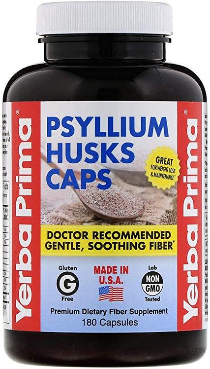 Yerba Prima Psylllium Husks Caps   180 caps