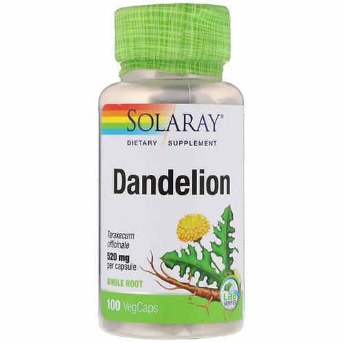 Solaray Dandelion Organic NON-GMO 520 mg  100 caps
