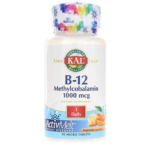 KAL B-12 Methylcobalamin 1,000 mcg Tangerine 1 Daily  90 micro tabs