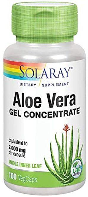Solaray Aloe Vera Gel Concentrate 2000 mg  100 caps