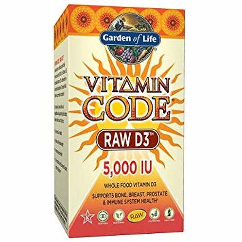 Garden of Life Vitamin Code RAW D3 5,000 IU 60 caps