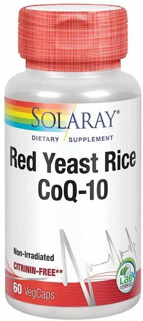 Solaray Red Yeast Rice CoQ-10  60 caps-citrinin free