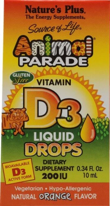 NaturesPlus Animal Parade Vitamin D3 Drops Orange  90 ml