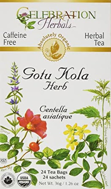 Celebration Organic Herbal Tea Gotu Kola Herb  24 bags