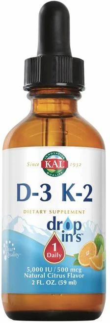 KAL D-3 K-2 Drops 5,000 IU 1 Daily  50 ml