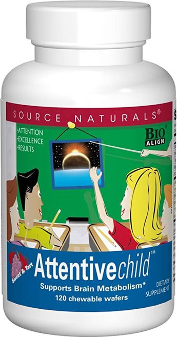 Source Naturals Attentive Child  30 chewable wafers