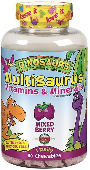 KAL MultiSaurus Vitamins & Minerals Mixed Berry 1 Daily  90 chews