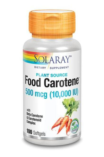 Solaray Food Carotene 500 mcg (10.000 IU) 100 sotfgels