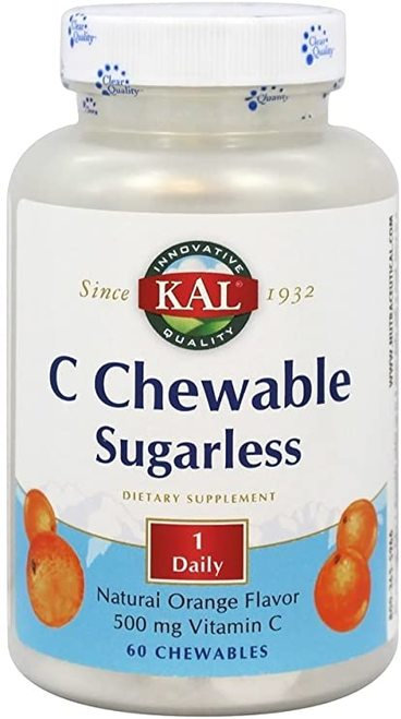 KAL C Chewable Sugarless Orange 1 Daily 500 mg  60 chews
