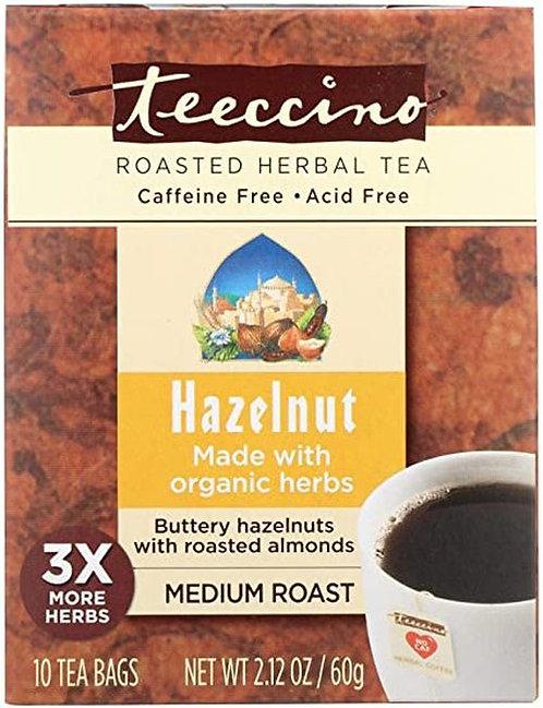 Teeccino Roasted Herbal Tea Hazelnut  10 bags