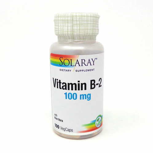 Solaray Vitamin B-2 100 mg 100 caps