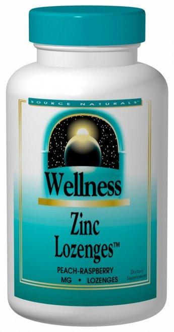 Source Naturals Zinc Lozenges Peach Raspberry  60 lozenges