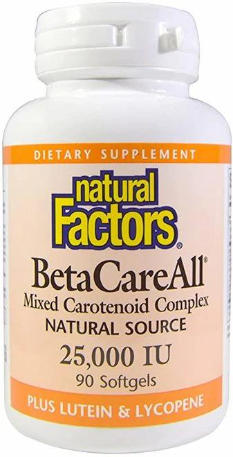 Natural Factors BetaCareAll  25,000 IU  90 softgels