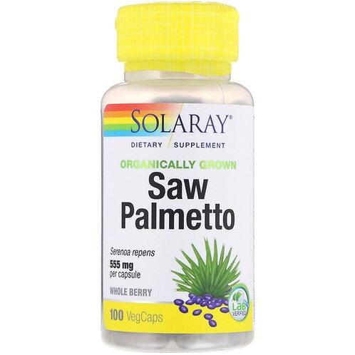 Solaray Saw Palmetto Organic NON-GMO 555 mg  100 caps