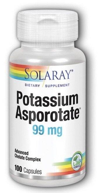 Soloray Potassium Asporotate 99 mg  100 caps