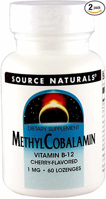 Source Naturals Methyl Cobalamin  B-12 5 mg Cherry  60 lozenges