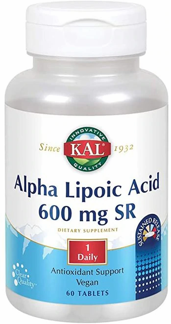 Alpha Lipoic Acid 600 mg SR 1 Daily  60 tabs
