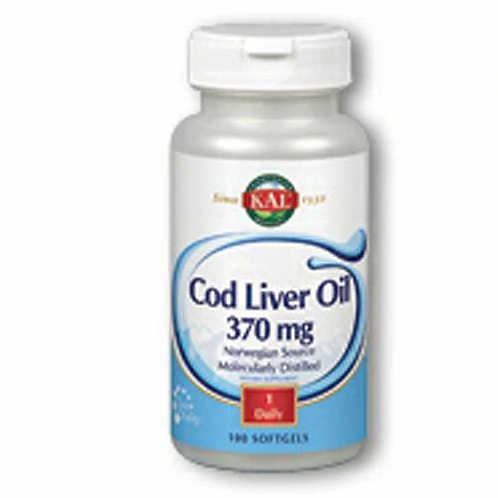 KAL Cod Liver Oil 370 mg 1 Daily  100 softgels