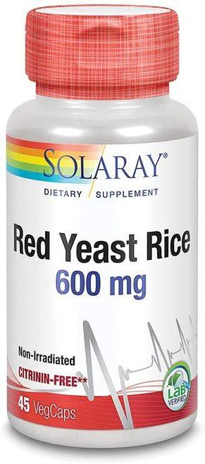 Solaray Red Yeast Rice 600 mg  45 caps