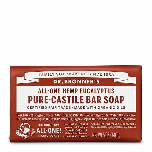 Dr. Bronner's Pure-Castile Bar Soap Eucalyptus  140 g