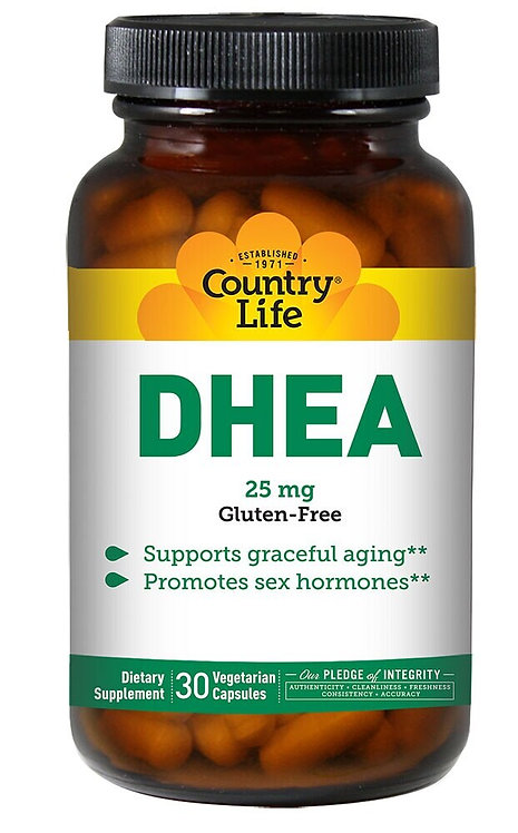Country Life DHEA 25 mg  30 caps