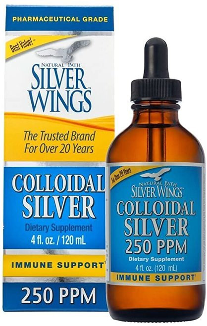 Natural Path Silver Wings Colloidal Silver 250 PPM  120 ml