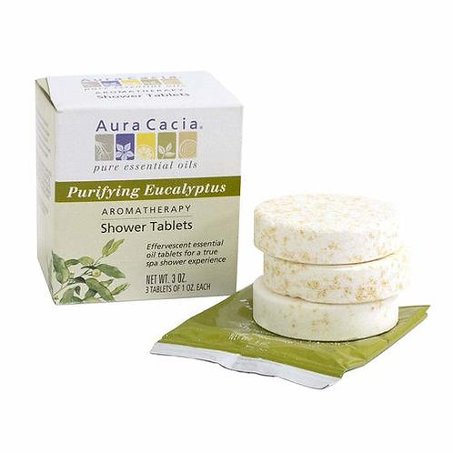 Aura Cacia Purifying Eucalyptus Shower Tablets  3 tabs