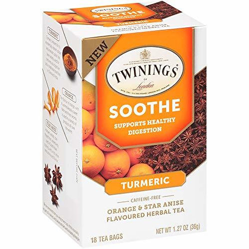 Twining's Tea Soothe turmeric Orange  Star Anise  18 bags