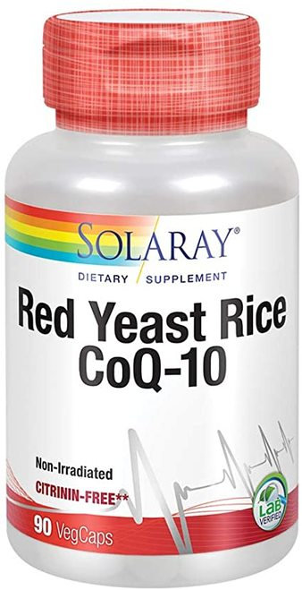 Solaray Red Yeast Rice CoQ-10  90 caps- citrinin free