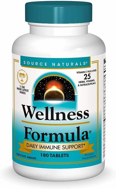 Source Naturals Wellness Formula  180 tabs
