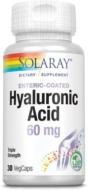 Solaray Hyaluronic Acid Triple Strength 60 mg  30 caps