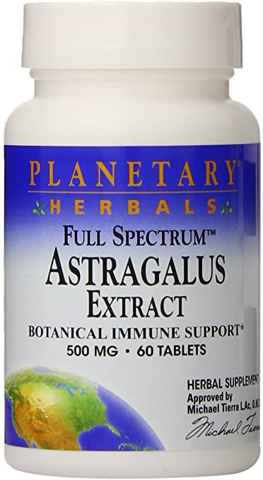 Planetary Herbals Astragalus Extract  500 mg  60 tabs
