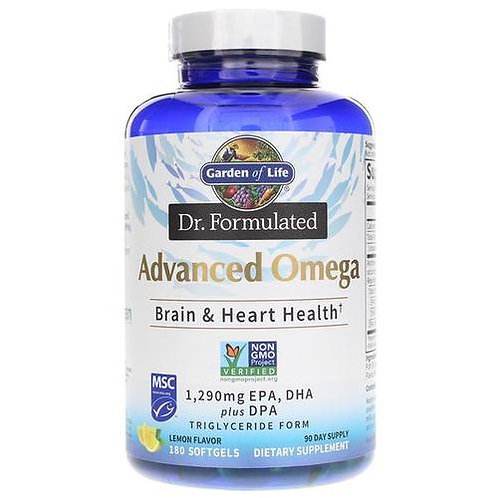 Garden of Life Dr. Formulated Advanced Omega Lemon  180 softgels
