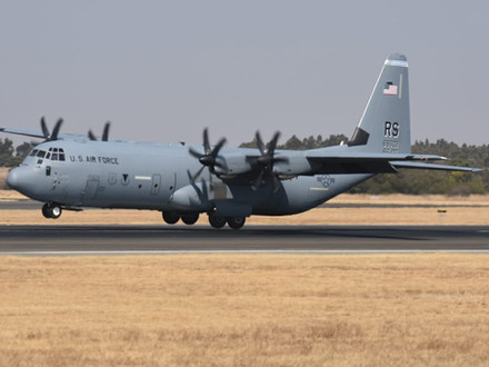 USAF C-130J delivers COVID aid to South Africa
