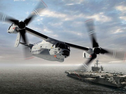 Bell Boeing Delivers First V-22 for U.S. Navy's Aircraft Carriers