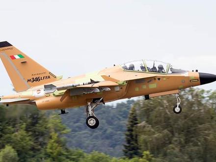 The maiden flight of the Leonardo M-346LFFA