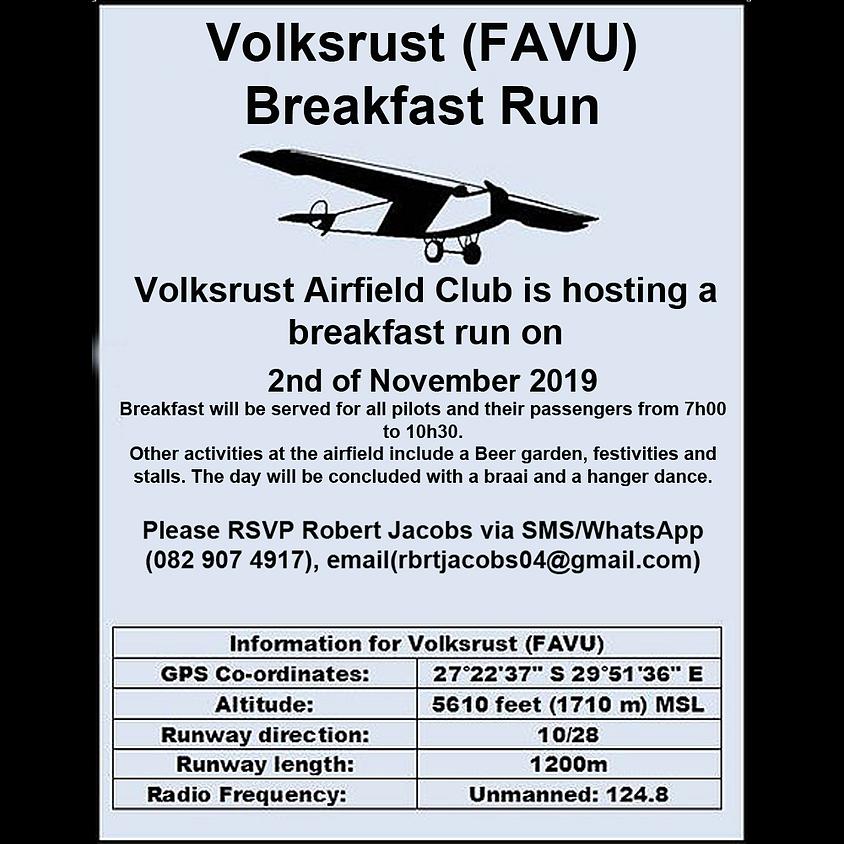 Volksrust (FAVU) Breakfast Run