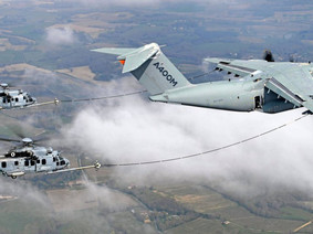 Helicopter refuelling from an A400M - Flight Trials