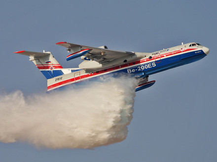 Russian UAC Be-200ES Amphibious Aircraft deployed in Turkey