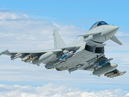 RAF Typhoons scrambled to intercept Russian aircraft close to UK airspace
