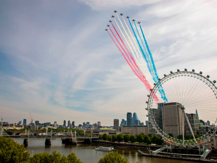 RAF flypasts over empty streets mark 75 years since VE Day