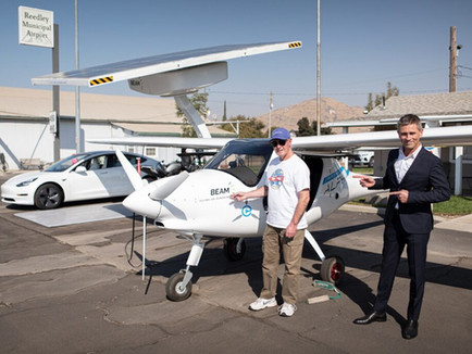 "Beam and Pipistrel team-up for ""Flying on Sunshine"" Test"