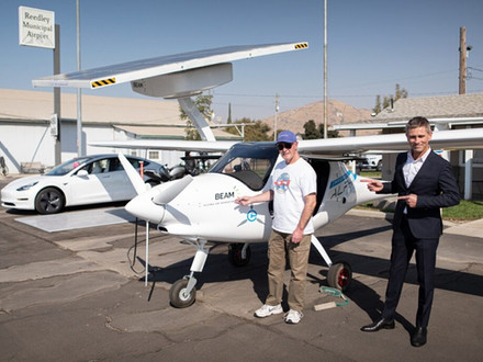"Beam and Pipistrel team-up for ""Flying on Sunshine"" Test"
