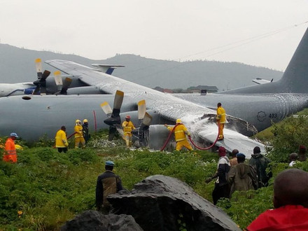 SAAF Hercules C-130 down in Goma