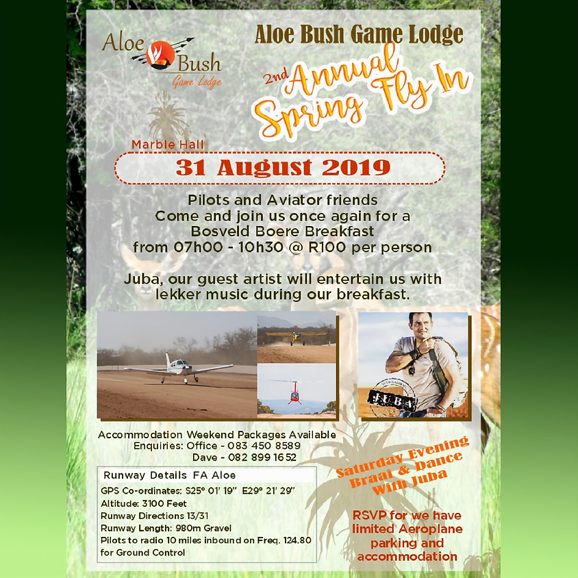 Aloe Bush Game Lodge 2nd Annual Spring Fly-in