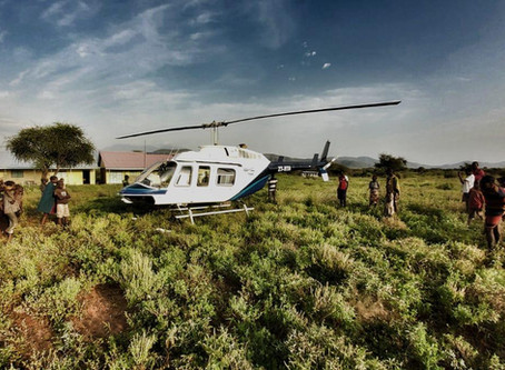 South African Helicopter Operator Manages Locust Swarms in Kenya