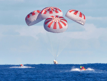 """SpaceX's first Astronaut Mission Completed with Safe """"Splash-Down"""""""