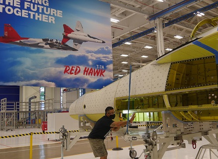 First T-7A Red Hawk Joined in Record Time, Thanks to Digital Design