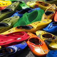 Crocs while kayaking